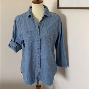 Anthropology Hester & Orchard chambray high low L